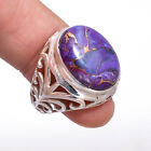 925 Sterling Silver  Natural Copper Turquoise Ring 6.65 Grams Size 5.75-8.5