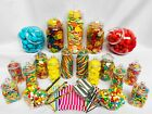19 Plastic Sweet Jars inc 10 styles, 2 tongs, 2 scoops, 100 bags Candy Buffet for sale  Shipping to Ireland