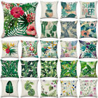Tropical Leaf Floral Waist Throw Pillow Case Home Bedroom Decor Cushion Cover US image