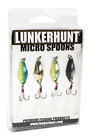 Lunkerhunt Micro Spoon 4-Piece Multi Pack Trout, Perch, & Panfish Fishing Lures
