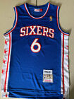 Philadelphia 76ers #6 Julius Erving Retro Blue Basketball Jersey Size: S - XXL on eBay