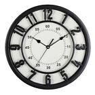 Large Round Retro Wall Clock Silent Movement Vintage Clock Industrial Style Deco