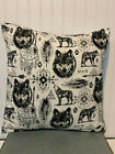 """Wolf Dreamcatcher/16"""" x 16"""" or 18""""x18""""/ Flannel Pillow Cover"""