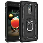 For LG Phoenix 4/Rebel 4/Fortune 2 Phone Case Armor Hard Cover+ Screen Protector