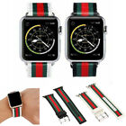Kyпить For Apple Watch Series 5 4 3 2 44/38/42 Stripe Pattern Replacement Leather Band на еВаy.соm