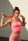 NEW Free People Movement Seamless Tighten Up Crop Top Neon Pink XS/S-M/L 30