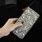 Bling Diamond Crystal Magnetic Card Wallet Stand PU Leather Phone Case Cover