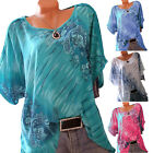 Plus Size Womens Boho Loose Casual Short Sleeve Summer T Shirts Blouse Tank Tops