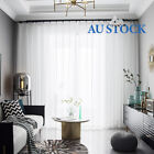 Clearance 2 Pcs Blizzard Sheer Voile Pinch Pleat Curtains Easy Care 250cm Drop
