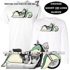 Indian Chief Vintage Motorcycle Green / Ivory Cream DigiRods Art T Shirt