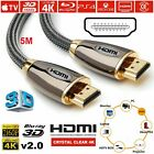 PREMIUM HDMI Cable v2.0 HD High Speed 4K 2160p 3D Lead 1m/2m/3m/5m/10m/15m/20m