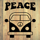 Retro Peace Bus Van Die Cut Decal Vinyl Sticker For Cars, Truck, Laptop And More
