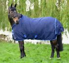 "Hy Lightweight 100 100g Waterproof Turnout Rug 600D Ripstop Navy/Blue 4'6""-7'0"""