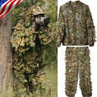 Hunting Clothes Maple Leaf Bionic Ghillie Suit Sniper Camouflage Jacket&Pants XL