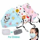 Cute Pm2.5 Washable Mouth Mask With Valve Kids Children Anti Haze Dust Mask