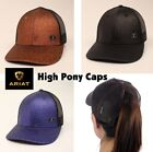ARIAT Sparkle HIGH PONY ~ Baseball CAP ~ Messy Bun, OSFM Adjustable, Mesh Back