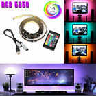 5V 5050 RGB LED Strip Light Bar TV Back Lighting Kit+USB Remote Control