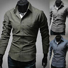 Mens New Fashion Luxury Long Sleeve Business Casual Dress Shirts Formal Top W517