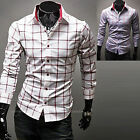 Mens New Fashion Luxury Long Sleeve Business Casual Dress Shirts Formal Top W345