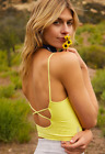 NEW Free People Movement Strappy Back Tighten Up Tank in Sun Glow XS/S-M/L 30