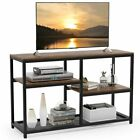 Sofa Table/Entry Table Retro Entertainment Center for TV & Cable Box w/ Shelves