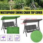 TOP Black 2 & 3 Seater Garden Swing Chair Replacement Canopy Spare Cover US