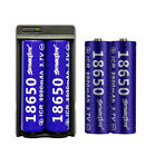 8PCS Skywolfeye 18650 3.7V Battery Li-ion Rechargeable & Charger For Flashlight