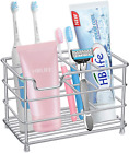 Toothbrush Holder Stainless Steel Toothpaste Bathroom Accessories Organizer
