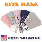 Kids Face Mask for Child Cotton Anti Haze Reusable washable outdoor Animal print