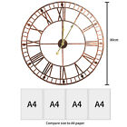 Garden Wall Clock Big Roman Numeral Metal Open Face Large Round 40/60/80CM NEW
