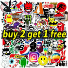 100 Featured Sticker Waterproof Vinyl Laptop Skateboard Bike Luggage Decals Cars