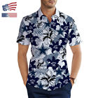 USA Dallas Cowboys Casual Short Sleeve Aloha Hawaiian Shirt Button Up Tee Shirt
