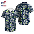 US Seattle Seahawks Hawaiian Shirt Summer Short Sleeve Button Down Tee Shirt $28.49 USD on eBay