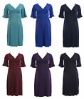 OLIAN Maternity Women's Ruffle Sleeve Surplice Neck Dress 130 NEW