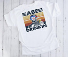 Abe Drinkin Abraham Lincoln Merica Funny Drinking T-shirt  Short Sleeve S-5XL
