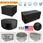 Heavy Duty Waterproof Garden Patio Furniture Cover Outdoor Large Rattan Table Us