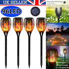 Waterproof Solar Powered LED Dancing Flame Torch Stake Outdoor Garden Lights Set