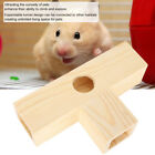 Hamster Tunnel Tube Rat Cage House Hollow Wooden Hide Climing Play Toy