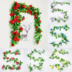Rose Rattan Wedding DIY Party Decoration Floral Hoop Home Hanging Party Supplies
