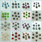 metal dice dnd dices set rpg polyhedral solid dice table games Zinc alloy green