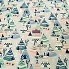 Grey Teepee tents Cotton Winceyette Soft Brushed Flannel Fabric 110cm MK1227-4