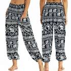 Womens Casual Wide Leg Yoga Harem Pants Loose Fit Palazzo Gypsy Hippie Trousers