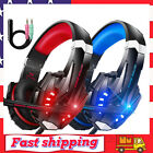Pro Gaming Headset w/ Mic Stereo Bass Noise Cancelling Headphone for PS4 XBOX PC