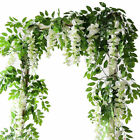 7FT Artificial Wisteria Plants Ivy Vine Garlands Silk Trailing Flower #yi