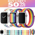 For Apple Watch Nylon Silicone Sports Strap Band Series 5/4/3/2/1 38/40/42/44mm image