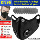 Reusable Mask With Breathing Valve Carbon Filters Pad Mouth Cover Anti Pollution