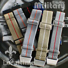 Military Watch Elastic Bands Straps S/S & Black Metalware 20 & 22mm 25+ Colours