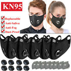 Cycling Face Mask Valves Reusable Respirator & Replaceable Carbon Purify Filters