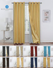 2 Pack Double Layered 100% Blackout Window Curtains - Assorted Colors & Sizes