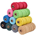 3mm 100m Macrame Rope Cotton Twisted Cord Hand Craft String DIY Supply HomeDecor